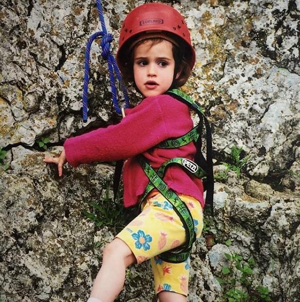 Luca Douady climbing