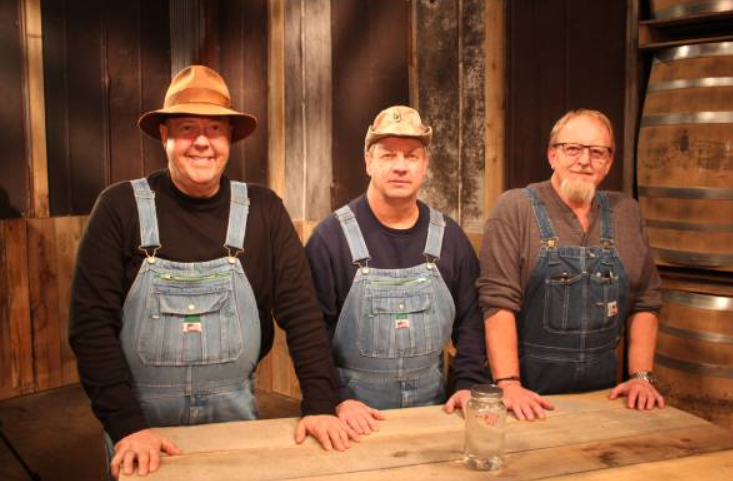 Moonshiners's Mark Ramsey (left), Eric Digger Manes (right) and Tim Smith (center)