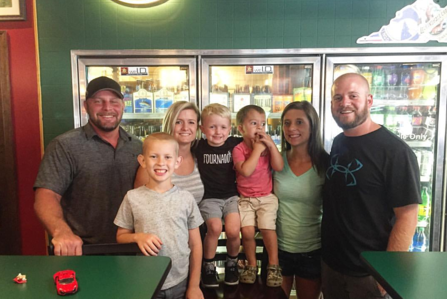 Sarah Mattox Roach captioned 'see this? co-parenting wins'
