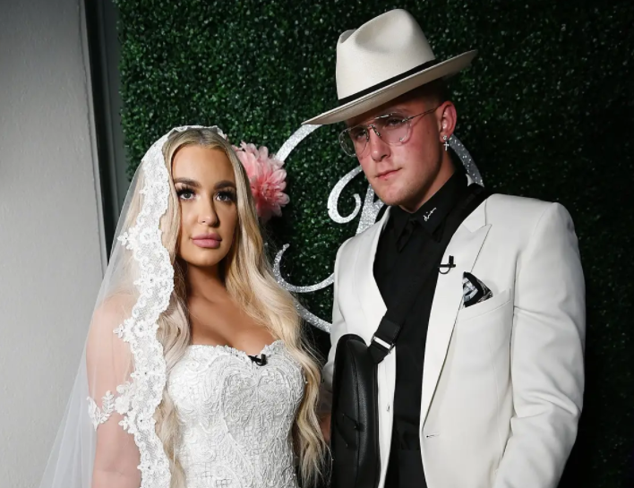 Wedding Picture of Jake Paul and Tana Mongeau