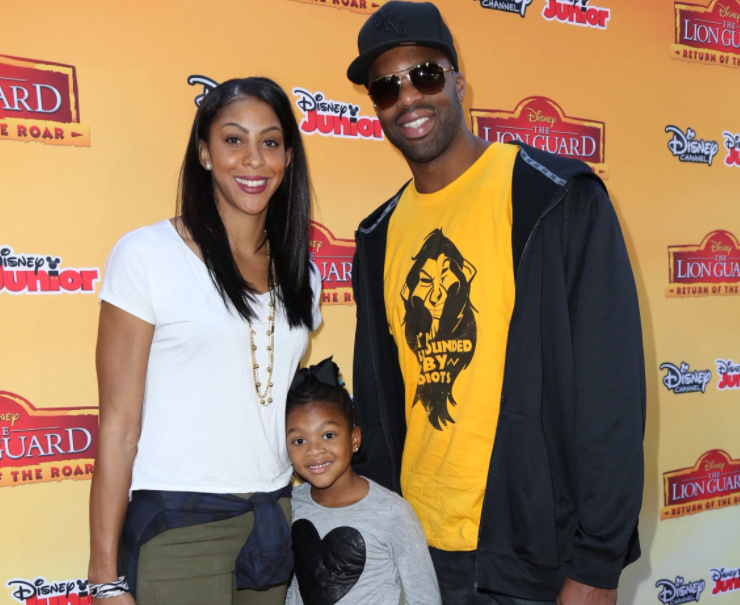Candace Parker with her ex-husband, Shelden Williams and their daughter