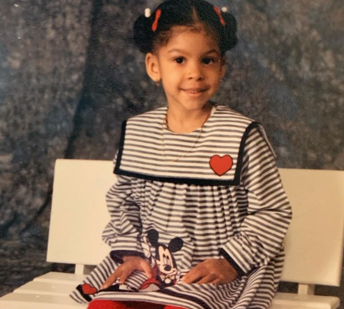 Childhood Picture of Candace Parker