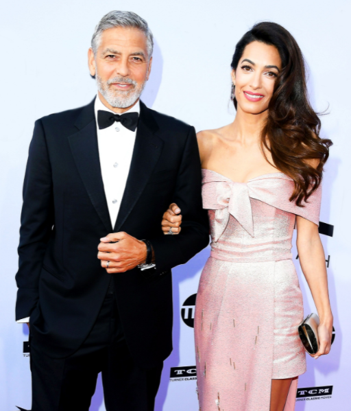 Amal Clooney and her husband, George Clooney