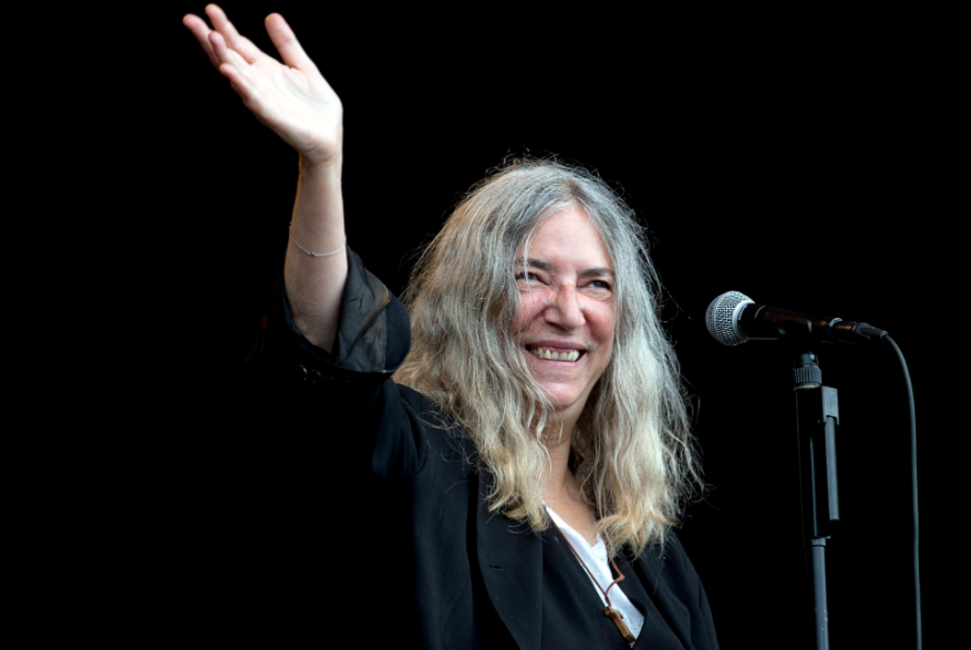 Patti Smith, a famous singer