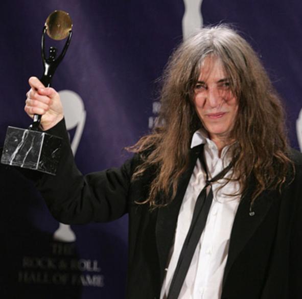 Patti Smith with award