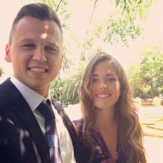 Denis Cheryshev and his girlfriend, Cristina Cobo