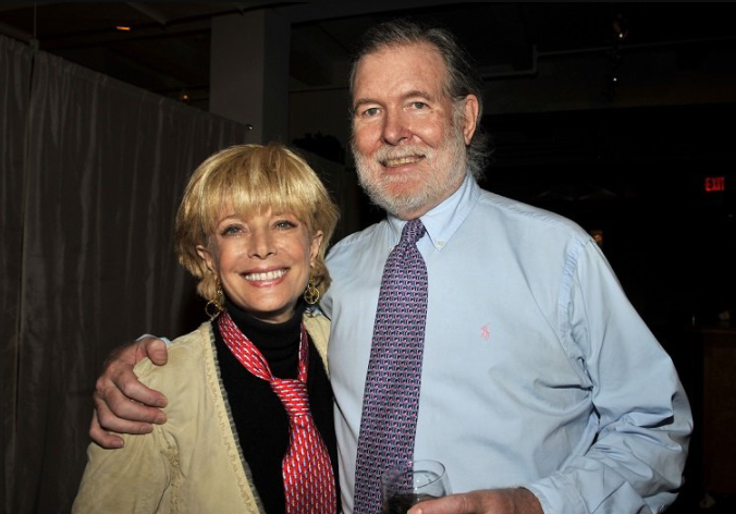 Lesley Stahl with her husband, Aaron Latham