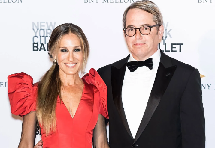 Matthew Broderick With His Wife, Sarah