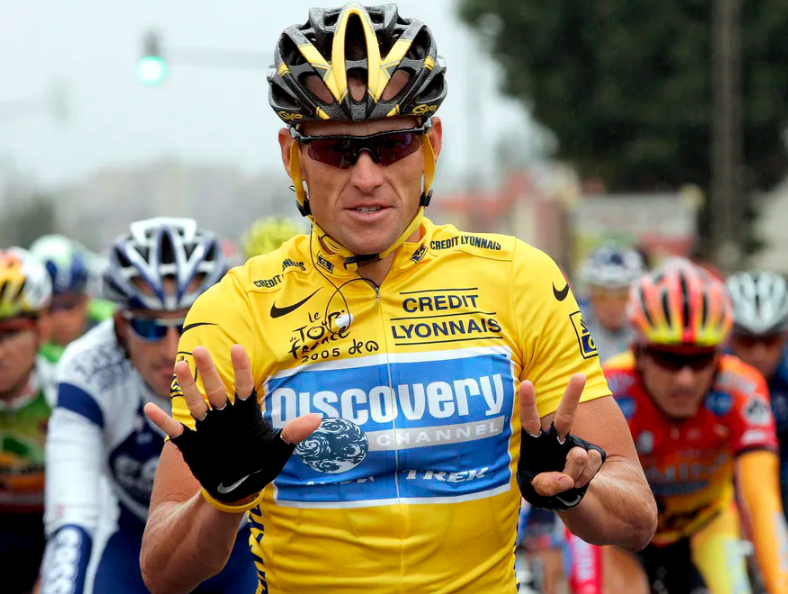 Lance Armstrong, an retired racing cyclist
