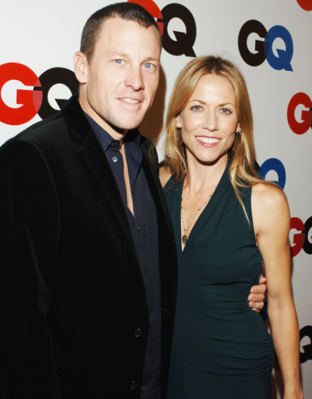 Lance Armstrong with his wife Sheryl Crow