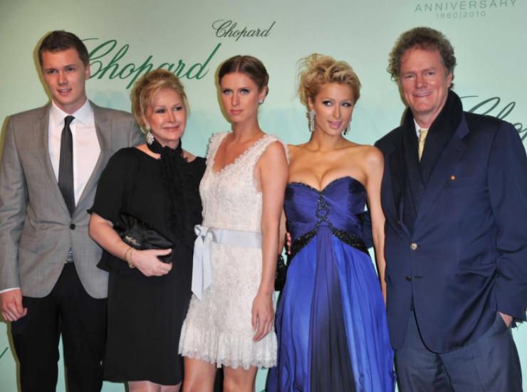 Barron Nicholas Hilton, Kathy Hilton, Nicky Hilton, Paris Hilton and Rick Hilton