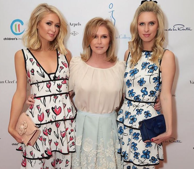 Kathy Hilton with her daughters, Paris and Nicky