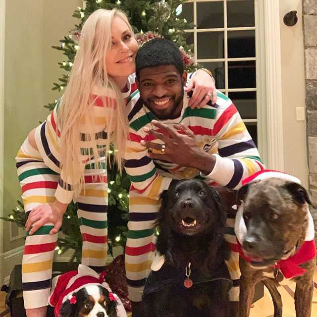 Lindsey Vonn and P.K Subban