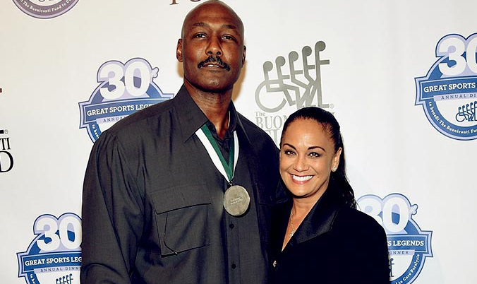 Karl Malone with his wife, Kay Kinsey