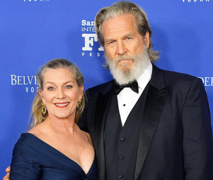 Jeff Bridges and his wife, Susan Geston