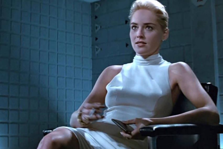 Sharon Stone in the movie Basic Instinct