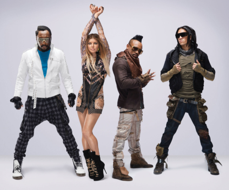 Fergie with the musical group 'Black Eyed Peas'
