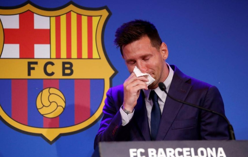 Lionel Messi tears