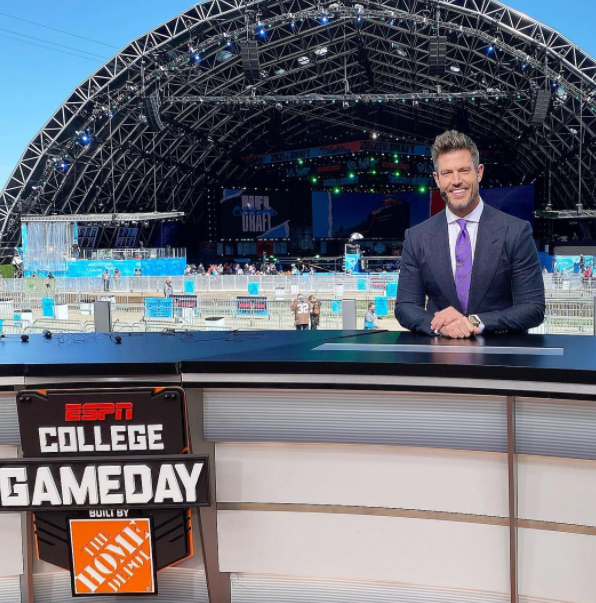 Jesse Palmer is a game analyst on ESPN Thursday Night College football games
