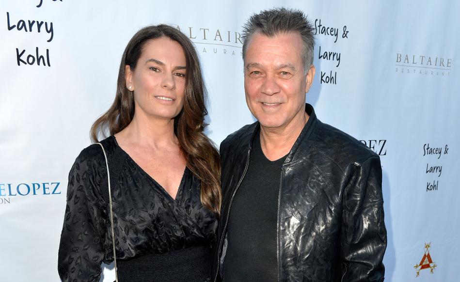 Eddie Van Halen and his wife, Janie Liszewski