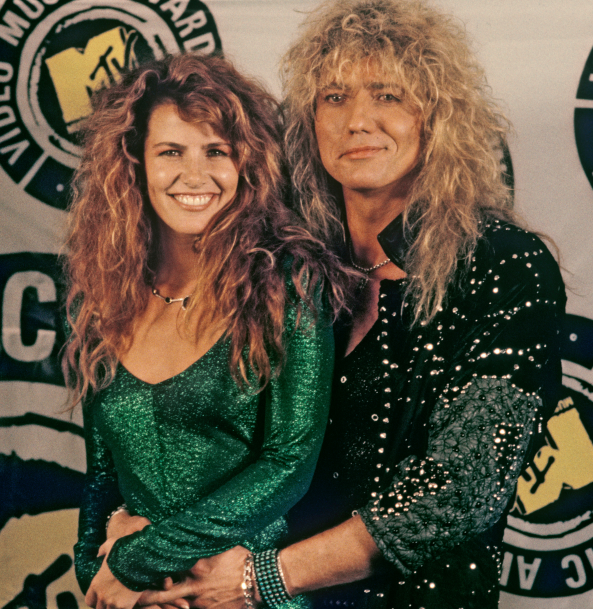 Tawny Kitaen and her second husband, David Coverdale
