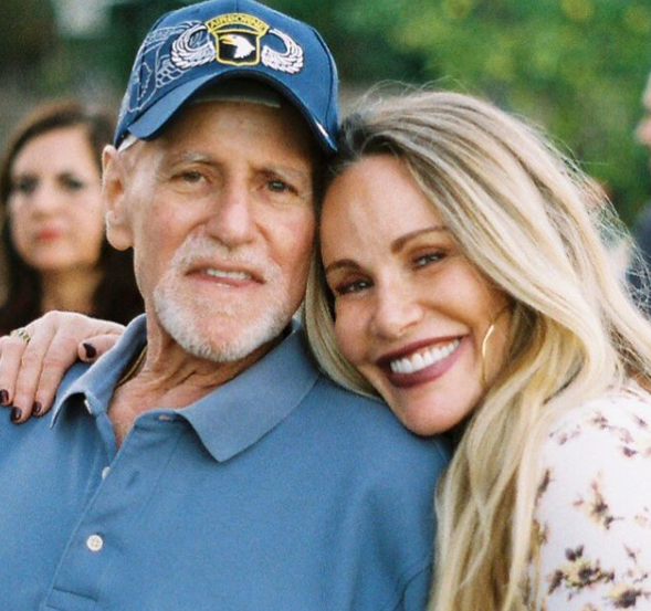 Tawny Kitaen with her dad