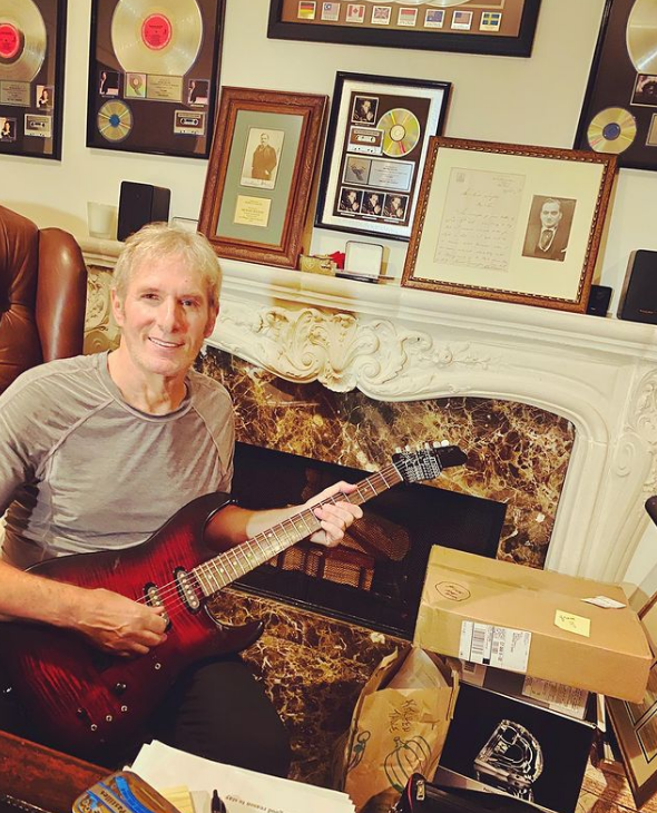 Michael Bolton working from home