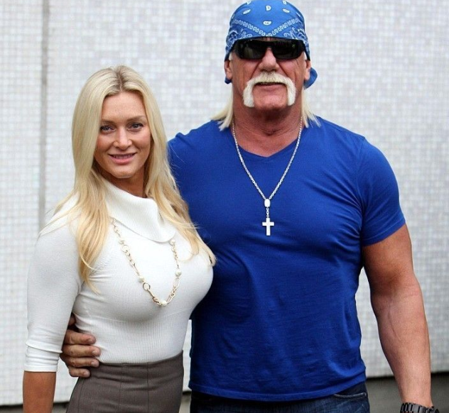Hulk Hogan with his wife Jennifer McDaniel