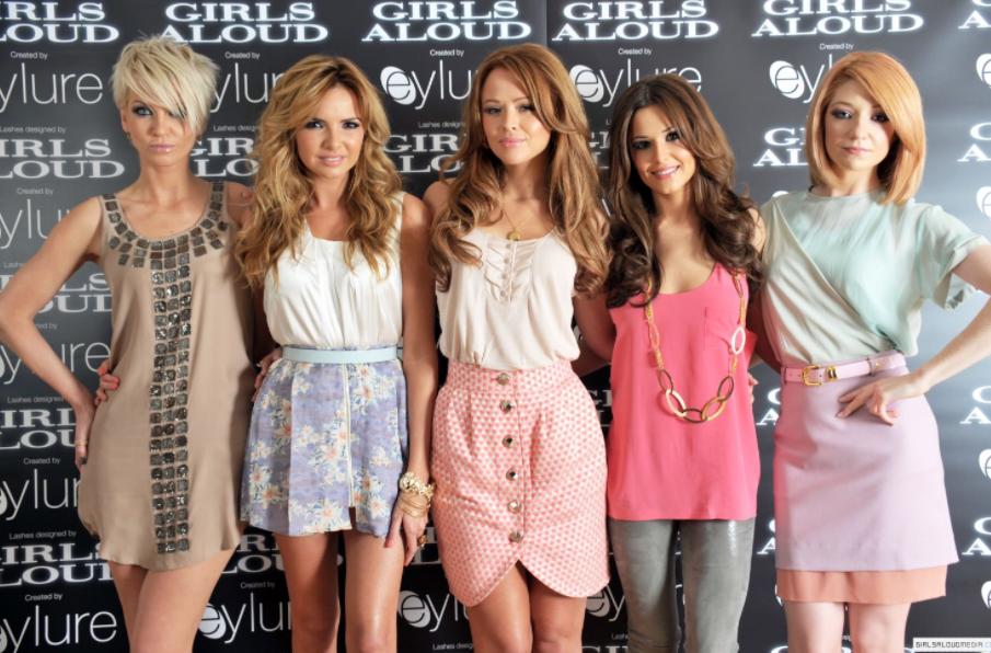 Girls Alound Band Members Sarah Harding, Cheryl, Nicola Roberts, Nadine Coyle and Kimberley Walsh