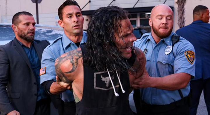 Jeff Hardy Being Arrested After Hitting Elias