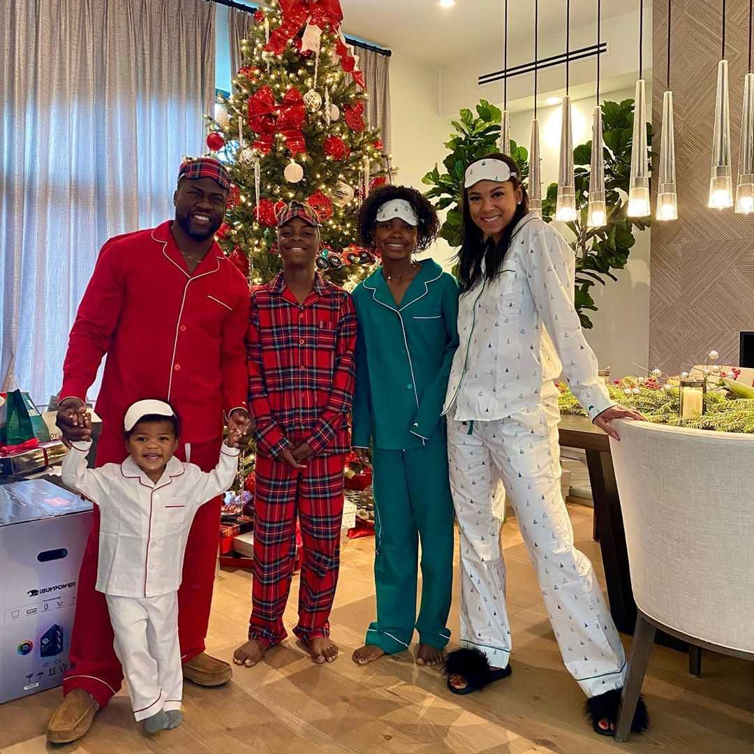 Kevin Hart and Eniko Parriah Beautiful Family