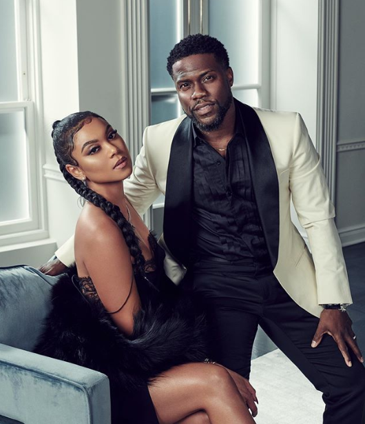 Kevin Hart with his Wife Eniko Parrish