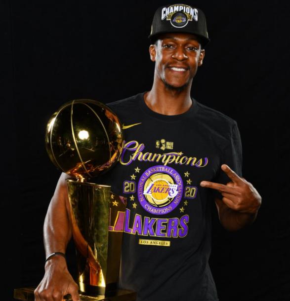 Rajon Rondo winning NBA championship with Lakers