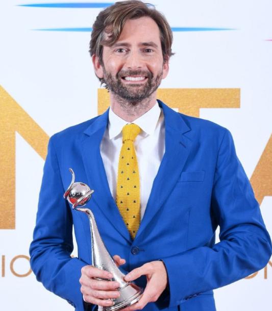 David Tennant With His Award