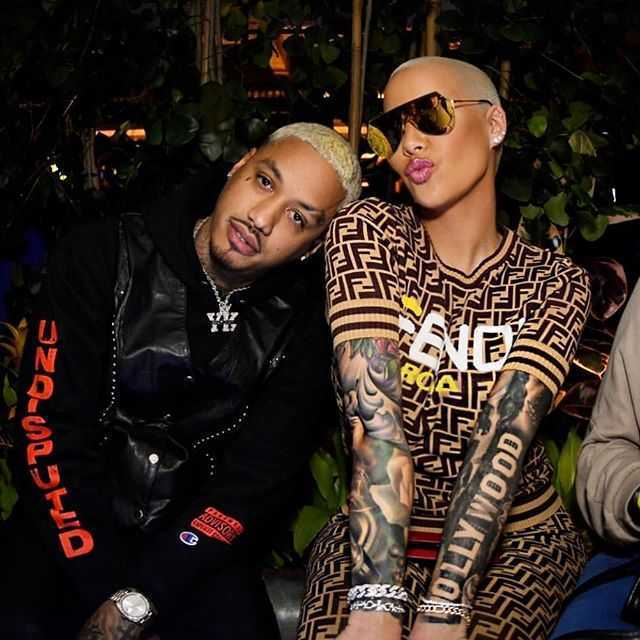 Amber Rose expecting baby with boyfriend Alexander Edwards