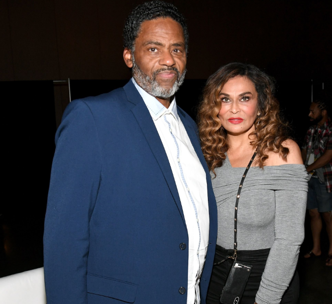 Tina Knowles with her husband, Richard Lawson