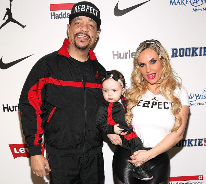 Coco Austin with her husband, Ice-T and their daughter, Chanel