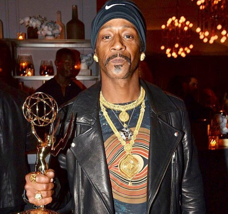 Katt Williams with his Emmy Award