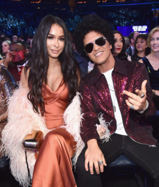 Bruno Mars and his girlfriend, Jessica Caban