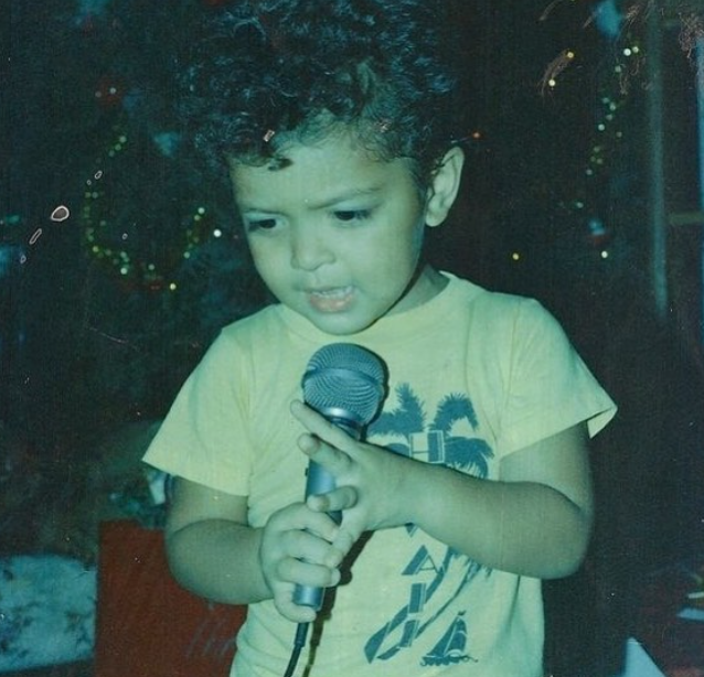 Childhood picture of Bruno Mars
