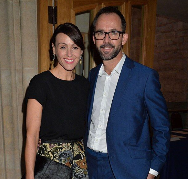 Suranne Jones and her husband, Laurence Akers