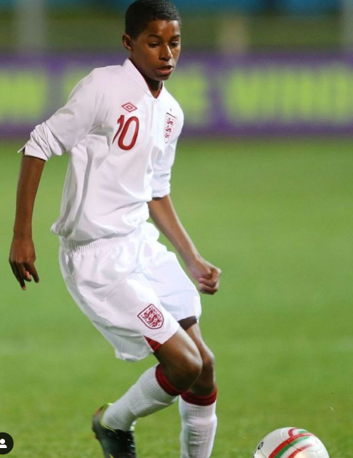 Marcus Rashford in his young age