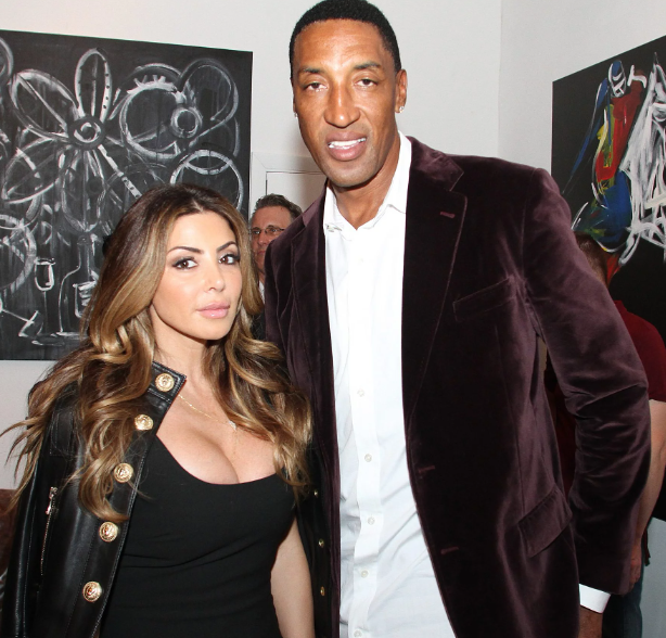 Scottie Pippen with his wife, Larsa Younan