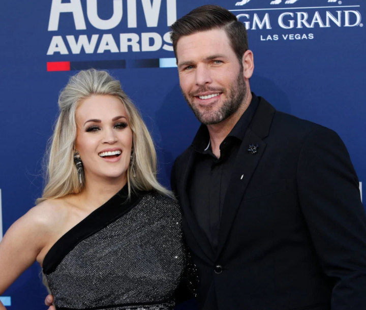Carrie Underwood with her husband, Mike Fisher