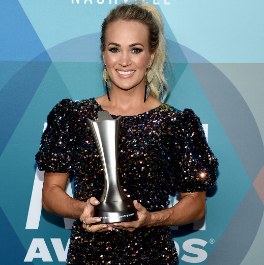 Carrie Underwood won for entertainer of the year on Wednesday in ACM Awards