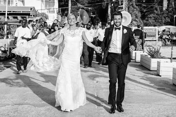 The former Revenge couple got married in real life, Emily VanCamp and Josh Bowman
