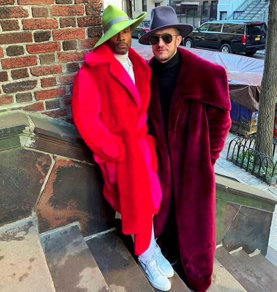 Billy Porter and and his husband adam smith