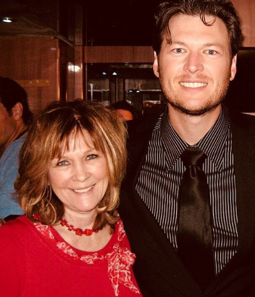 Blake Shelton and his Mama