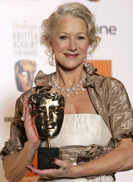 Helen Mirren with award