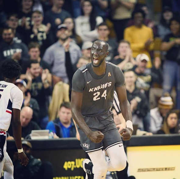 Senegalese basketball player Tracko Fall